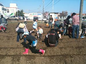 2010 市民参加体験型イベント 第一弾「種まき体験」
